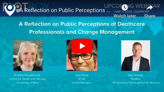 11th June 2020: A Reflection on Public Perceptions of Deathcare Professionals and Change Management