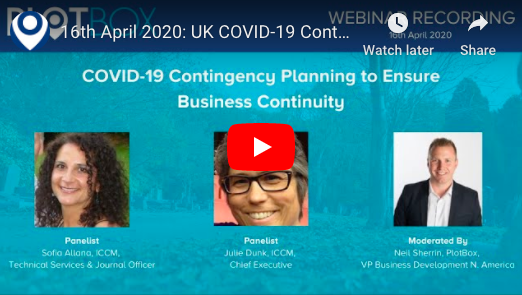 16th April 2020: COVID-19 Contingency Planning [UK]