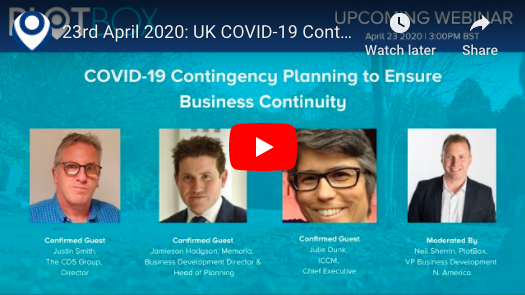 23rd April 2020: COVID-19 Contingency Planning [UK]