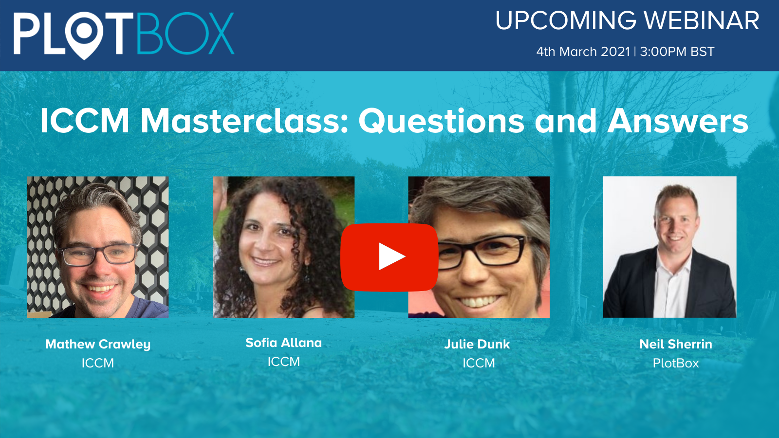 4th March 2021 -  ICCM Masterclass: Questions and Answers