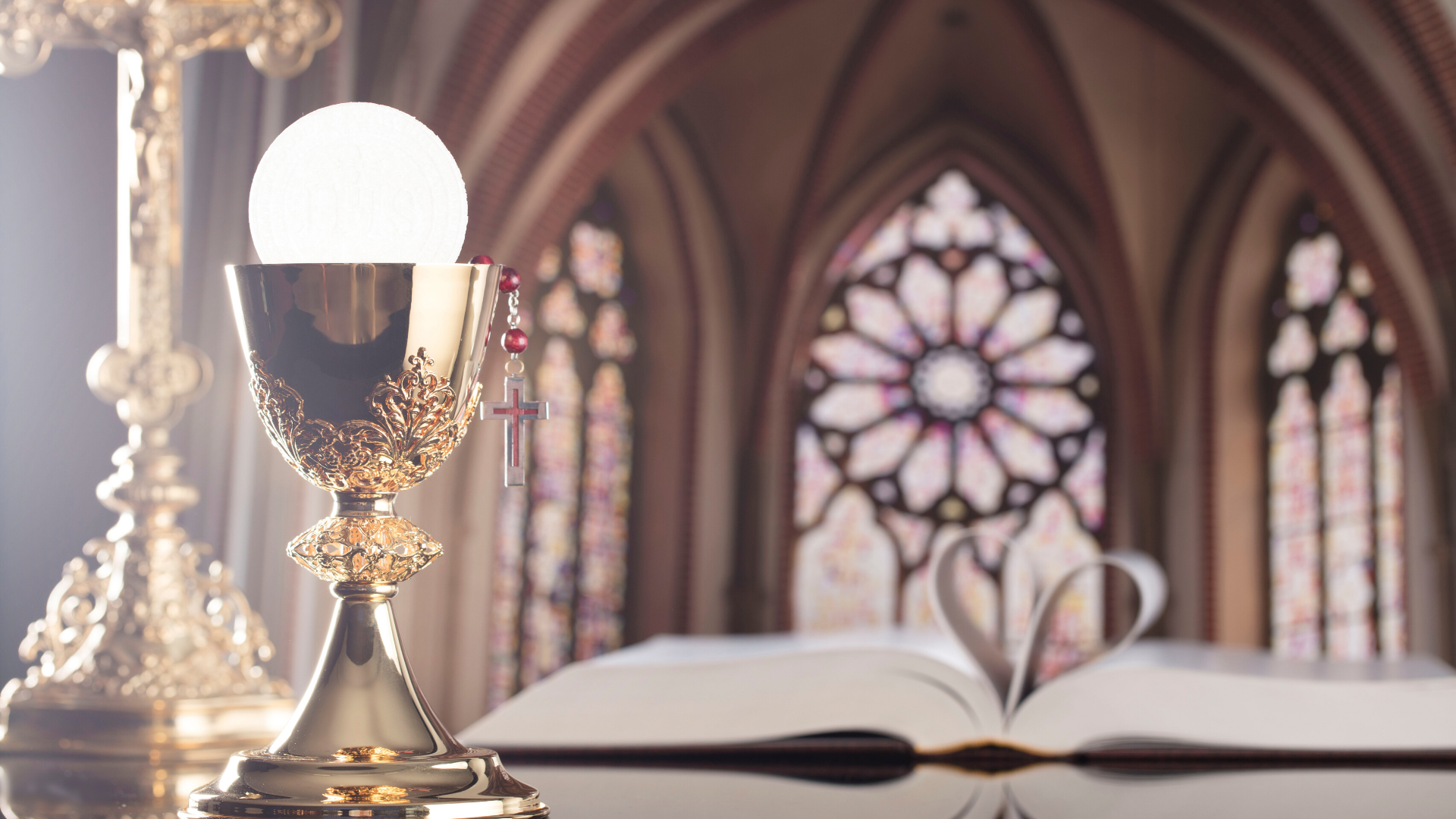 Photo of a chalice inside a Catholic church