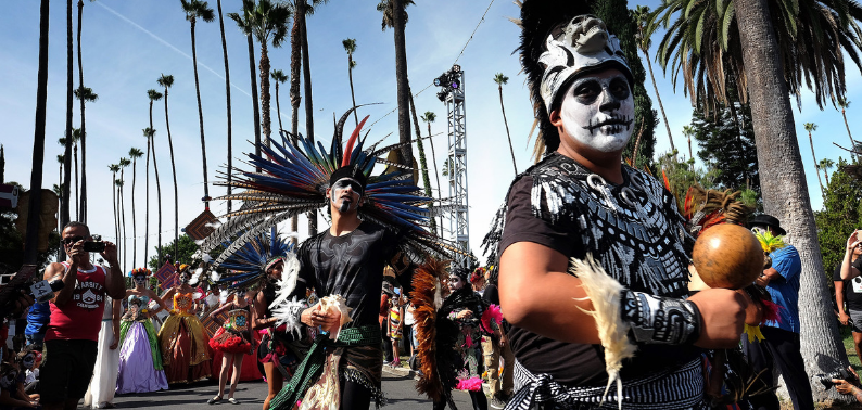 Photo of Day of The Dead Parade in LA Cemetery