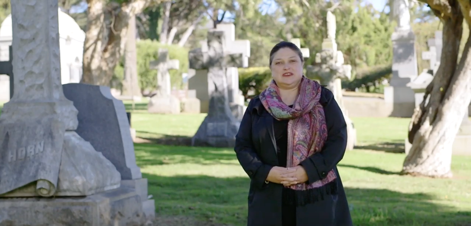 Photo of Monica Williams, Direct of Cemeteries for the Archdiocese of San Francisco