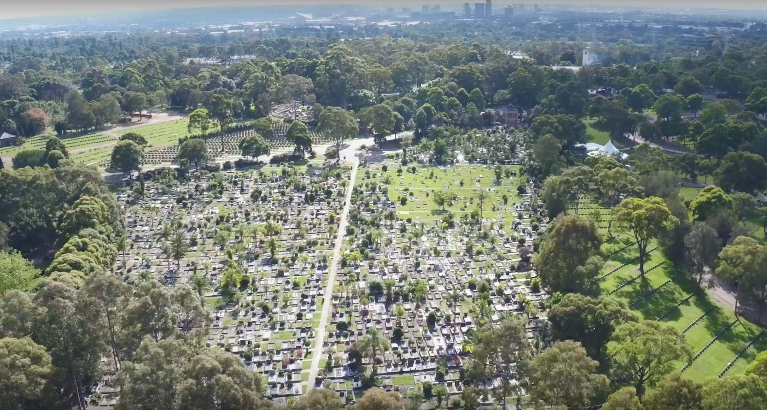 Aerial view of Rookwood General Cemetery