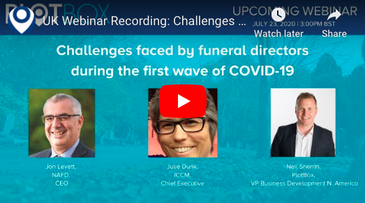 23 July 2020: Challenges faced by funeral directors during the first wave of COVID-19