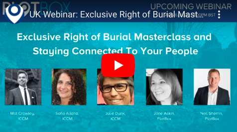 6 August: Exclusive Right of Burial Masterclass and Staying Connected To Your People