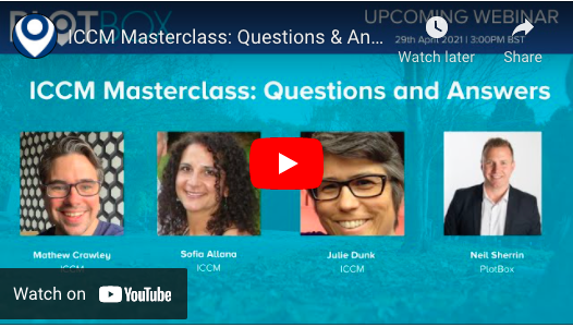 29th April 2021: ICCM Masterclass -Questions & Answers