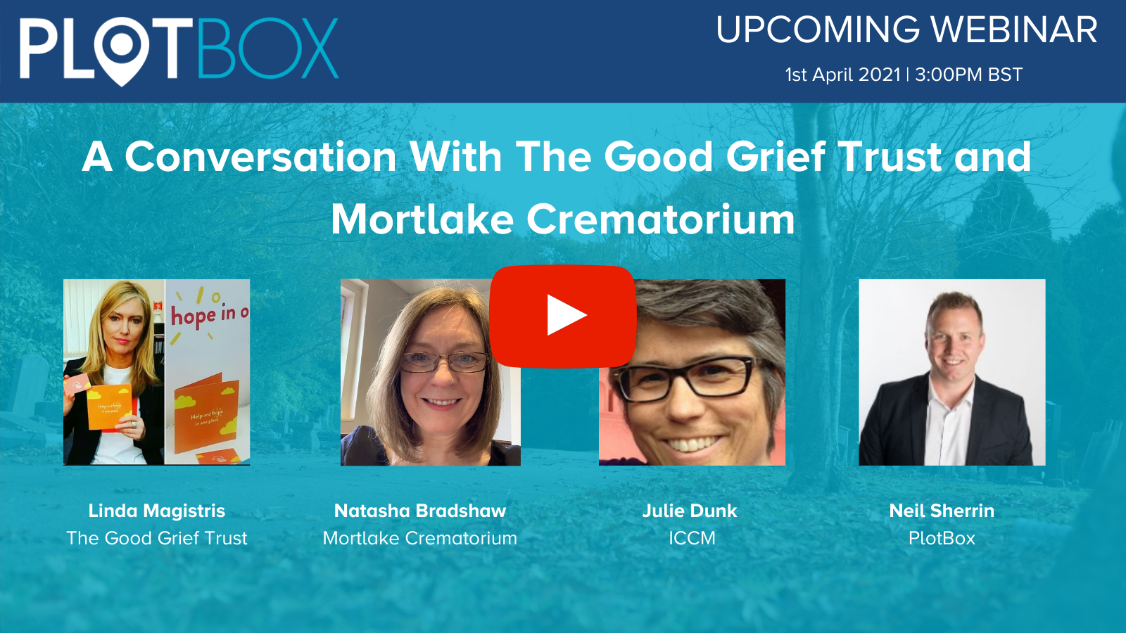 1st April 2021: A Conversation With The Good Grief Trust and Mortlake Crematorium