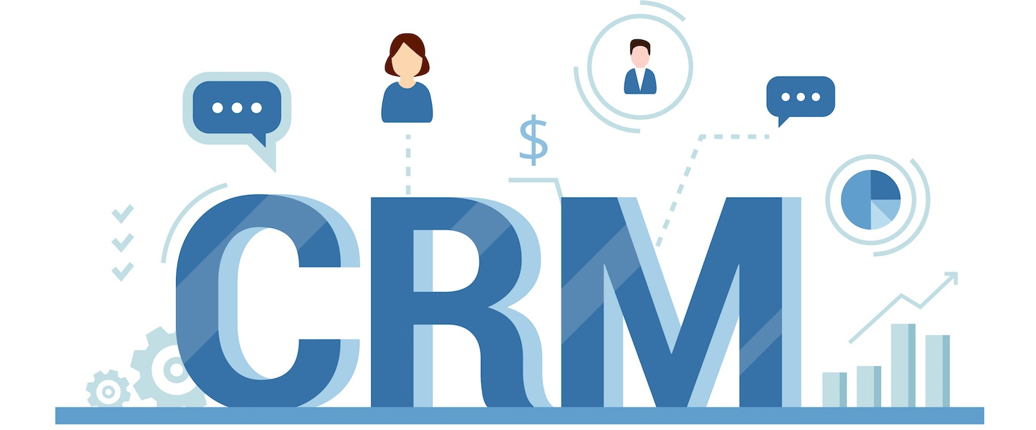 Graphic with words CRM